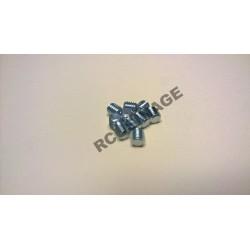 VIS ACIER ZINGE M5x5 STHC BOUT PLAT LOT DE 10